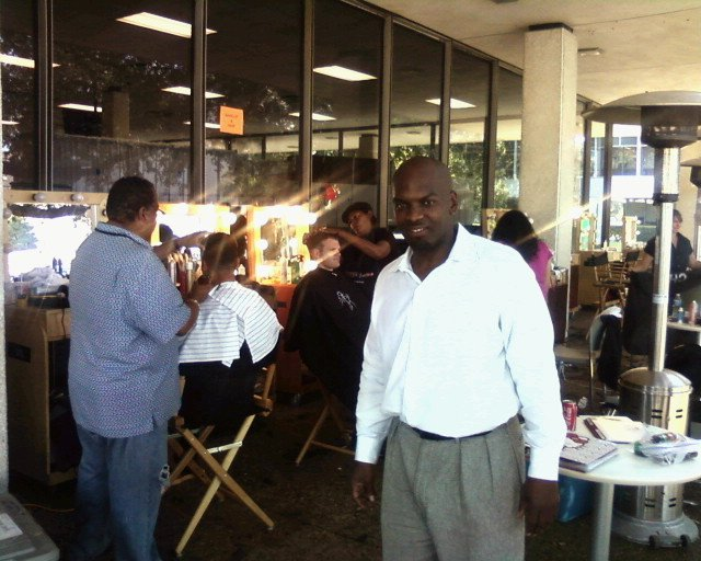 Nasa in Houston Texas Oct 25, 2010 Celebrity hairstylist Terry W. on set of the Transformers 3 film project.