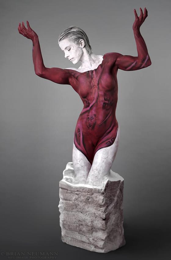New York Oct 29, 2010 Brian Newman Body Art