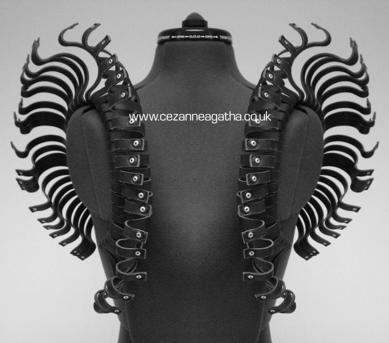 London Oct 30, 2010 Cezanne Agatha Gramson Leather Shoulder Piece