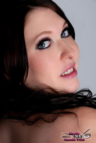 Female model photo shoot of GlitterEyes by Manda Tyler in Tulsa, OK, makeup by Hardcore Glitter MUA