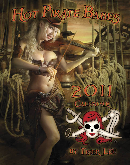 St Augustine Nov 08, 2010 Tiger Lee Cover of the 2011 Hot Pirate Babe Calendar