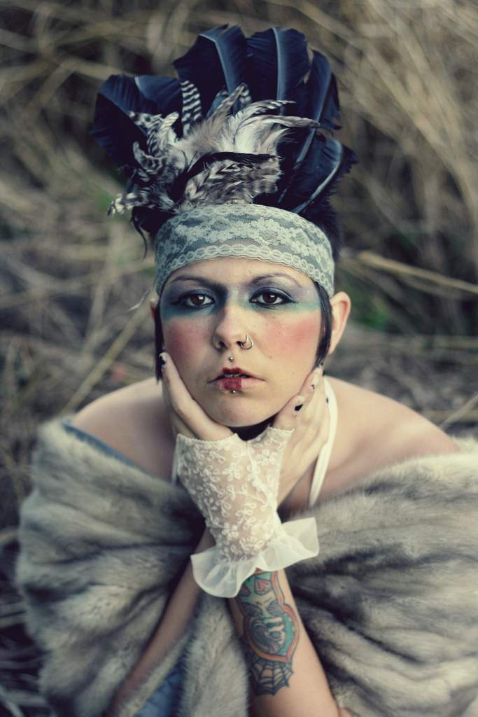 Nov 08, 2010 © P r i s t i n e a n d p u t r i d Photography I make sweet headdresses, ya know it.  (much love to Hooty + Lex )