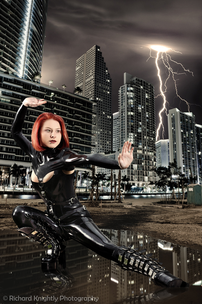 Shot in Montreal, but transposed to a setting fit for a superheroine Nov 11, 2010 (c) Richard Knightly Photography The City