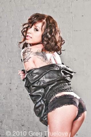 Female model photo shoot of TATTOO GIRL in Truelove Studios 2010