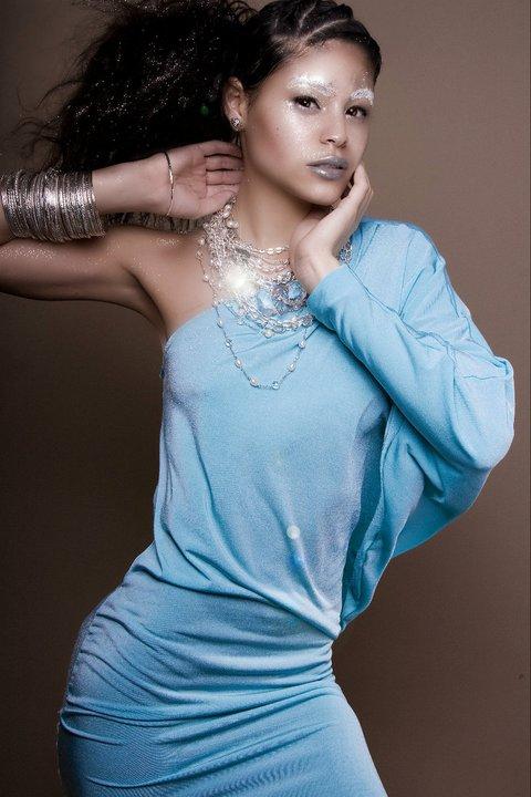 Female model photo shoot of Perez Victoria by Dawn Masen, clothing designed by Devon Thomas