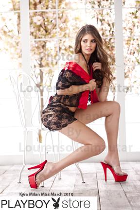 new york Nov 14, 2010 Lourenso Ramautar Playboys Miss March 2010 Kyra Milan