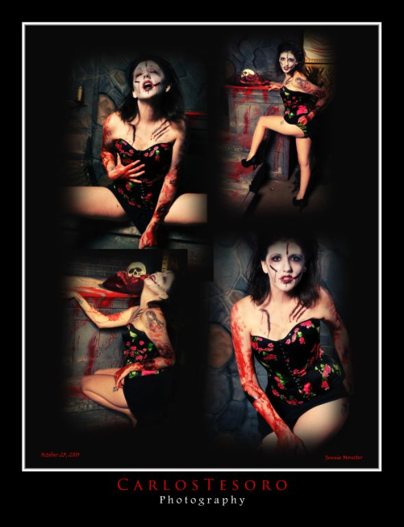 Female model photo shoot of Jenna Monnster by Carlos Tesoro in Pomona, Ca