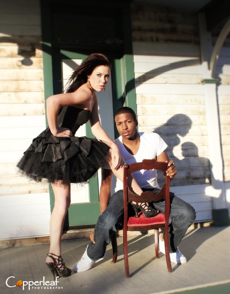 Male and Female model photo shoot of Derrian D and Bree Garner