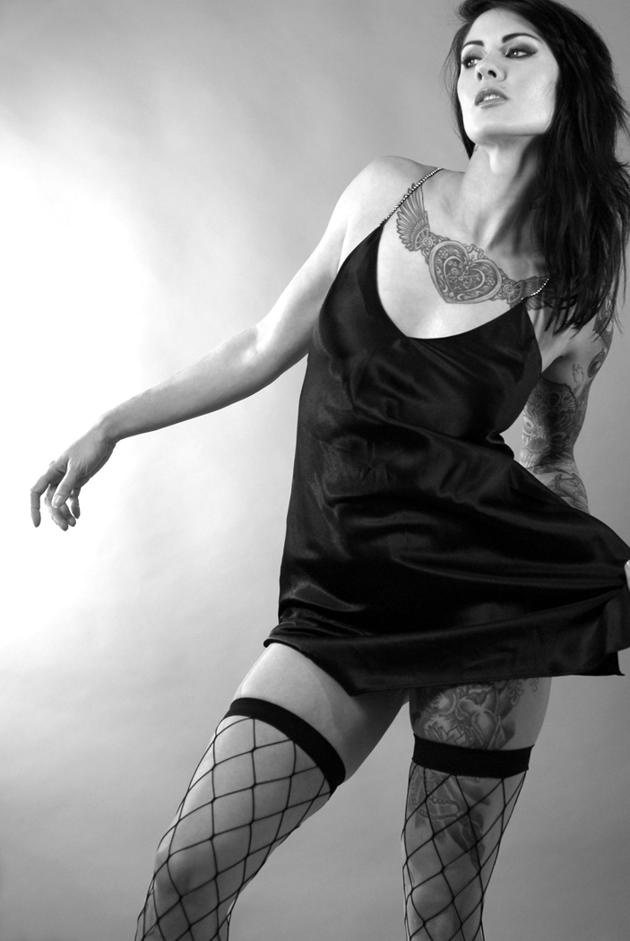 Female model photo shoot of Niki Nix by Patrick Chenier