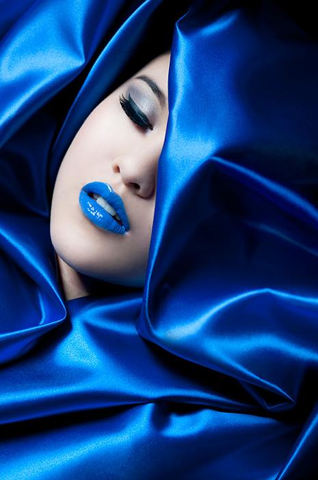 Female model photo shoot of Beauty-Berlin and penelelope by Maria Vaorin in Studio Potsdam, makeup by Beauty-Berlin