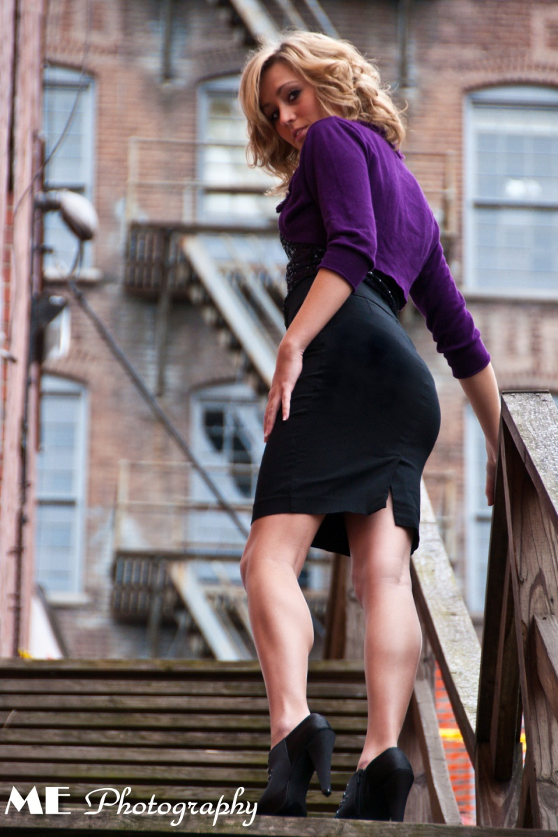 Female model photo shoot of Colbee by ME Photography in Downtown Lynchburg