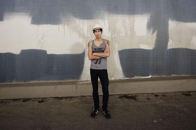 Male model photo shoot of Solomon Sloan by JimGL in LA River