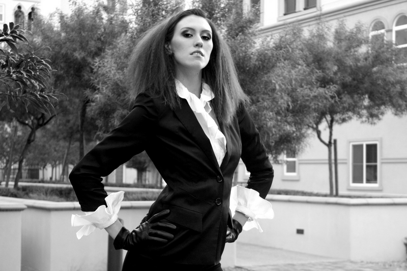 Female model photo shoot of britsticks in Las Vegas, hair styled by Irena S, makeup by beautiful nature