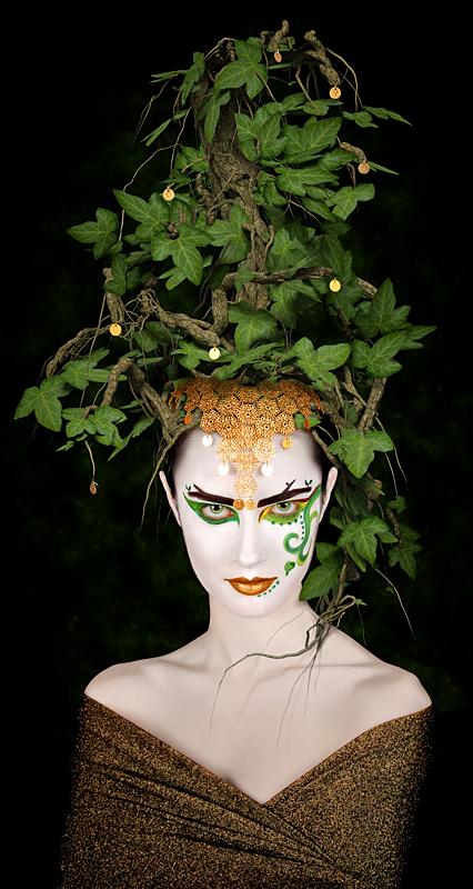 Niagara Falls Studio Dec 13, 2010 © 2010 digiography / Grant Jones Dana L. with a tree on her head :-)