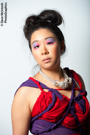 Female model photo shoot of Creatively Yours MUA by Dave McIntosh, clothing designed by Octavia Sylla