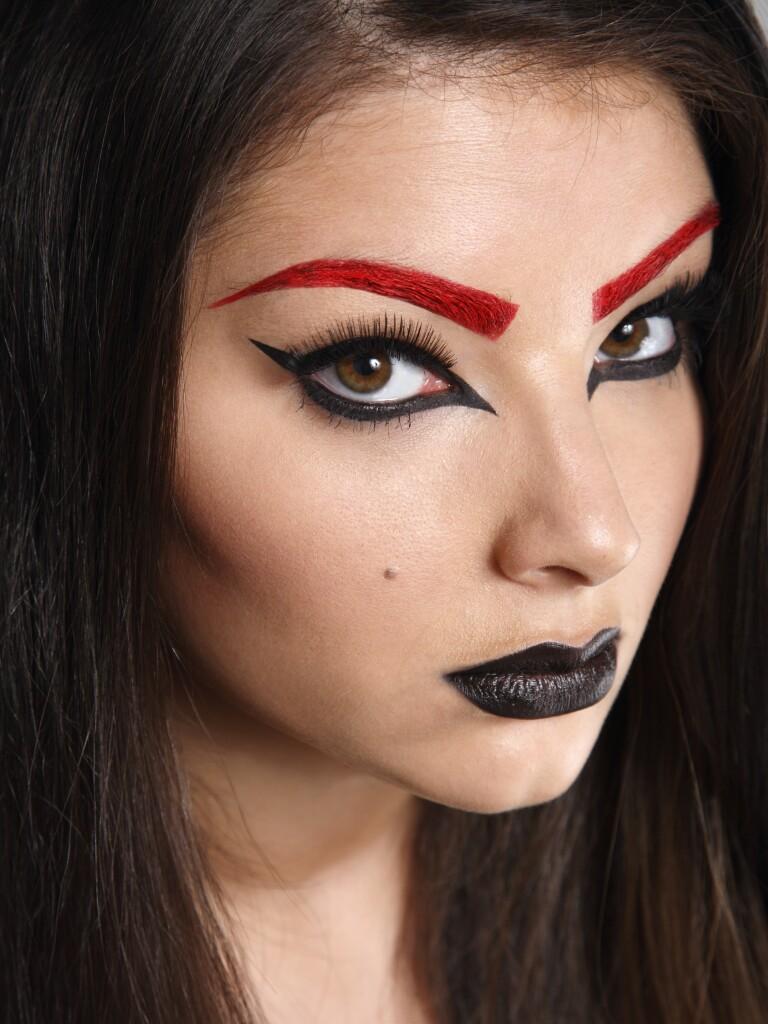 Toronto Dec 14, 2010 Jessica Hughes Makeup Red Brow