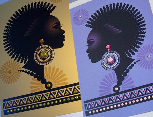 Chicago, IL 60611 Dec 14, 2010 Elvee R 2010 acrylic gems-Sheela-B-Day cards
