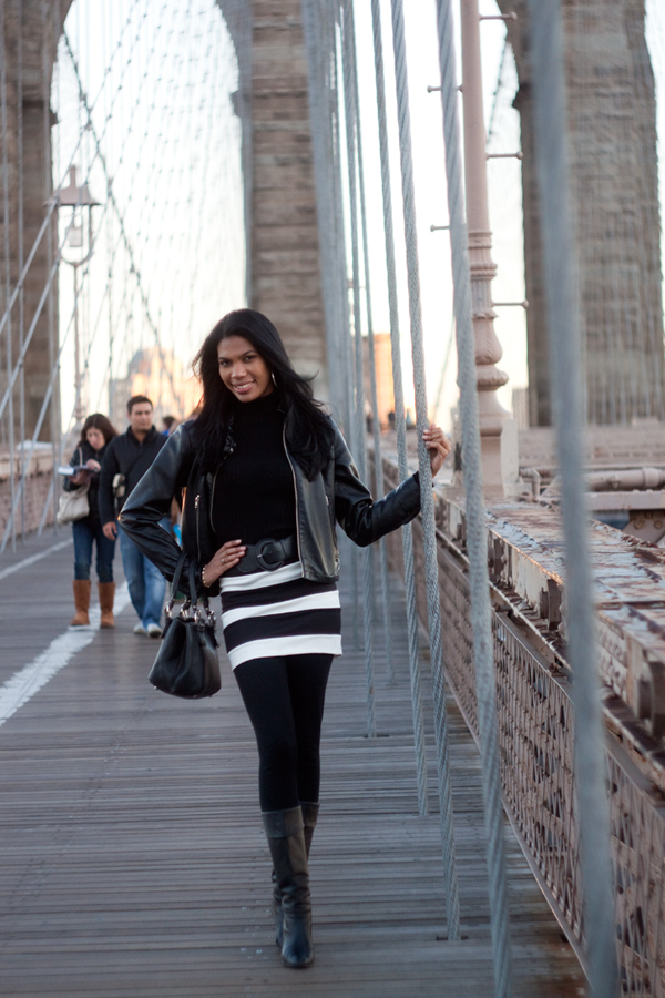 Male and Female model photo shoot of dmanlt and Ivana Parrilla in Brooklyn Bridge, NY, NY