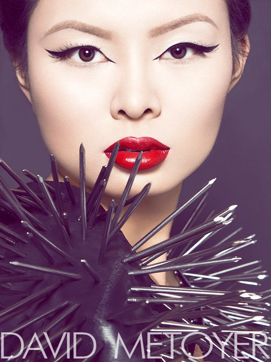 My home studio Dec 19, 2010 David Metoyer Photography High Fashion Edgy Headshot feat Model Jennifer Yang