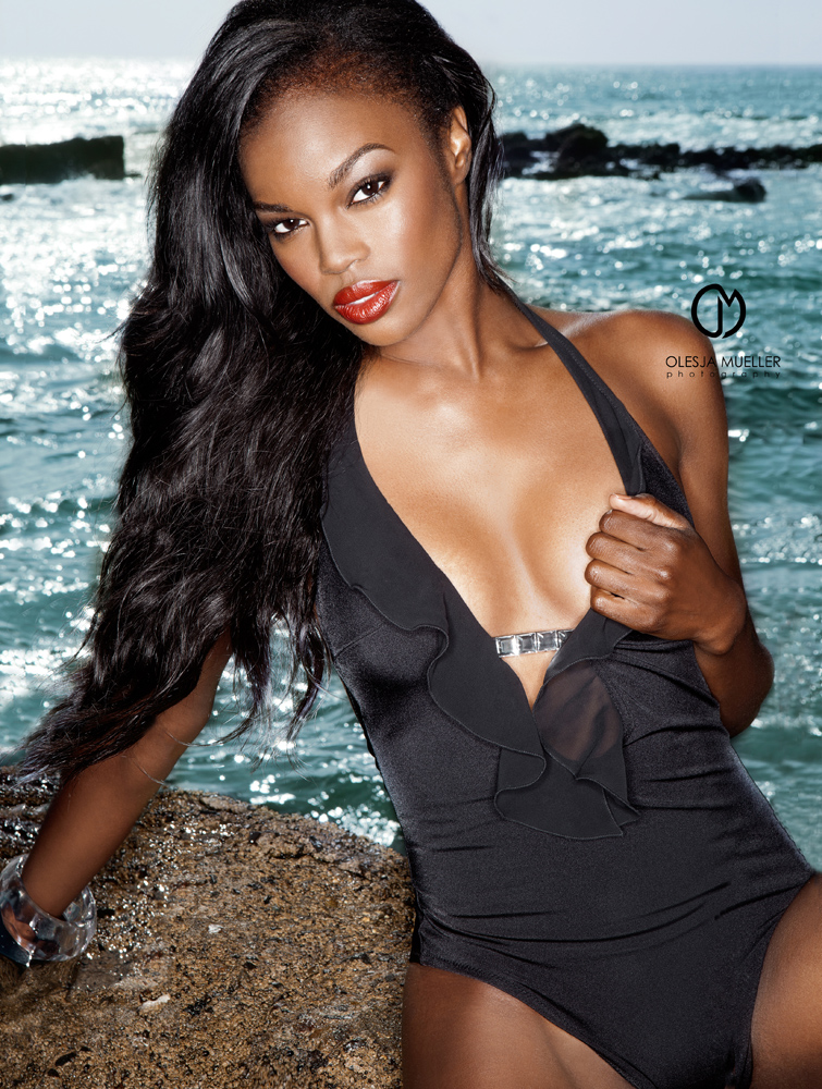 Makeup/hair: Daniel Chinchilla, Wardrobe: Misty Casseus; shot at Laguna Beach Dec 20, 2010 Olesja Mueller Photography Sneak peak to the editorial with Eugena Washington