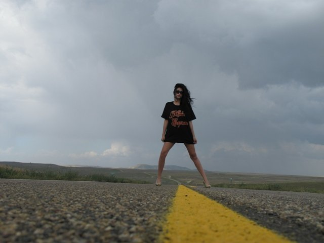 Female model photo shoot of Chelsey Alexandra in Middle of nowhere, Montana