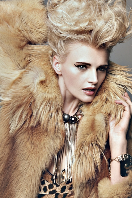 Female model photo shoot of Csilla  Elekes and Kasia_bober by AGATA PREYSS in London, makeup by Bethany Alderson