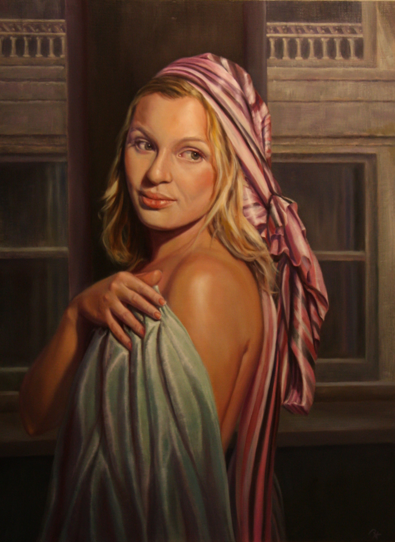 Lodi, CA Jan 03, 2011 Ronald Houck Something To Remember Oil on canvas 38 x 28