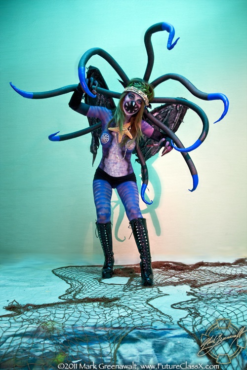 Female model photo shoot of Denae in Tempe AZ, body painted by Mark Greenawalt