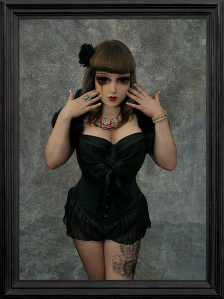 Female model photo shoot of Poppy Scarlet in Essex, makeup by Ms Moo Make Up