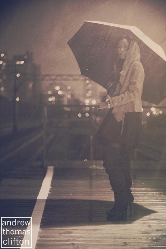 Chicago, IL Jan 18, 2011 Andrew Thomas Clifton Against a Rainy Urbane