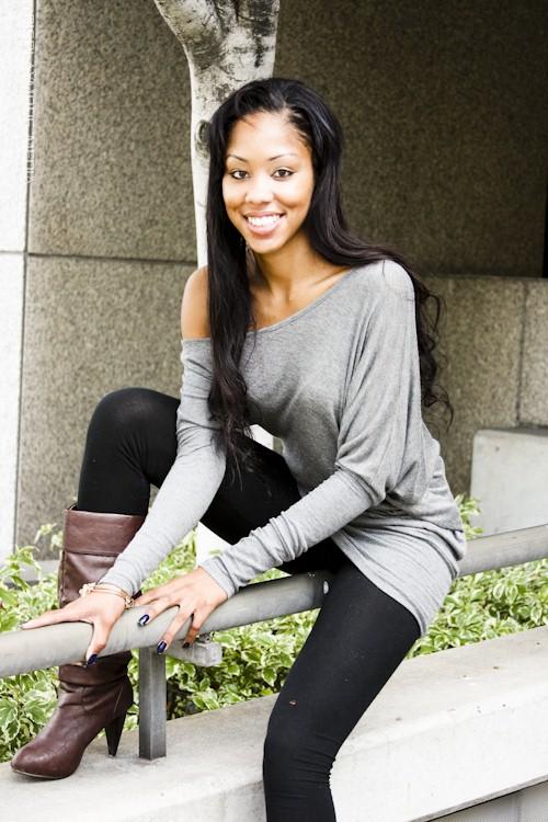 Female model photo shoot of Adriana Allen in downtown <3
