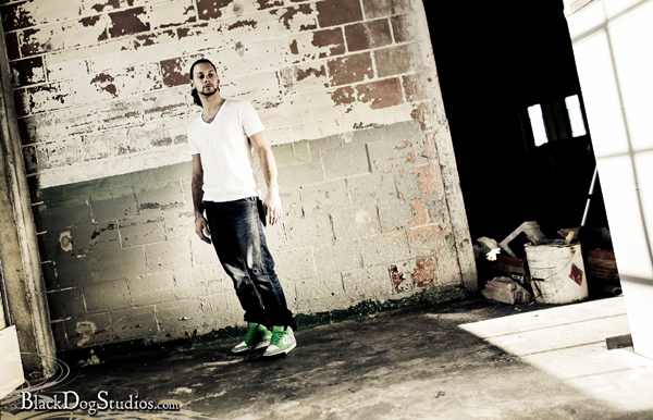 Male model photo shoot of NEWD Clothing Company in NEWD World Headquarters (Future Home), makeup by FaceScape Artistry