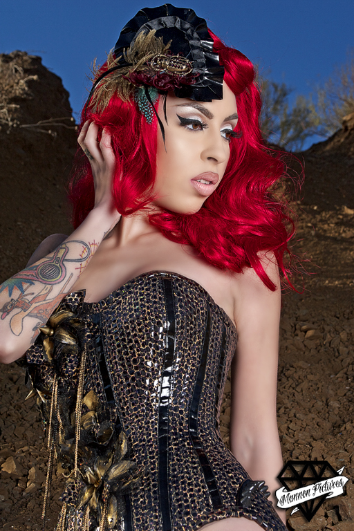 Jan 21, 2011 Decadent Scarab Hat <3 Model: Raquel Reed, Photo: Mannon Pictures, Corset: Veritee Hill