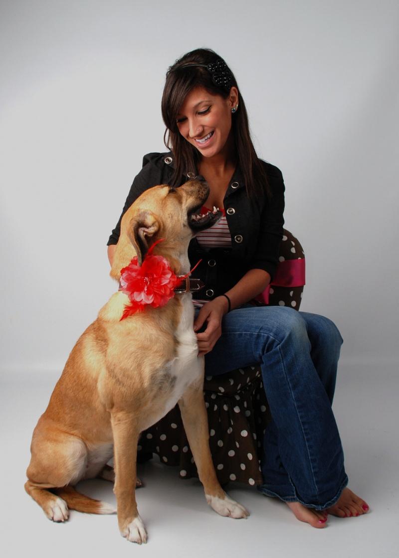 Oscoda, MI Jan 22, 2011 Cavalier Studio Valentines shoot  with my dog, Darla - 1/21/11