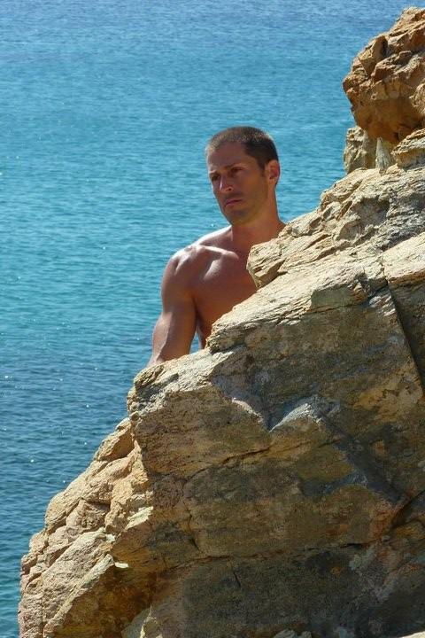 Male model photo shoot of Jess R in Mykonos