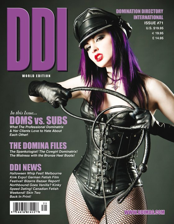 Jan 25, 2011 posing as classic dom for DDI mag