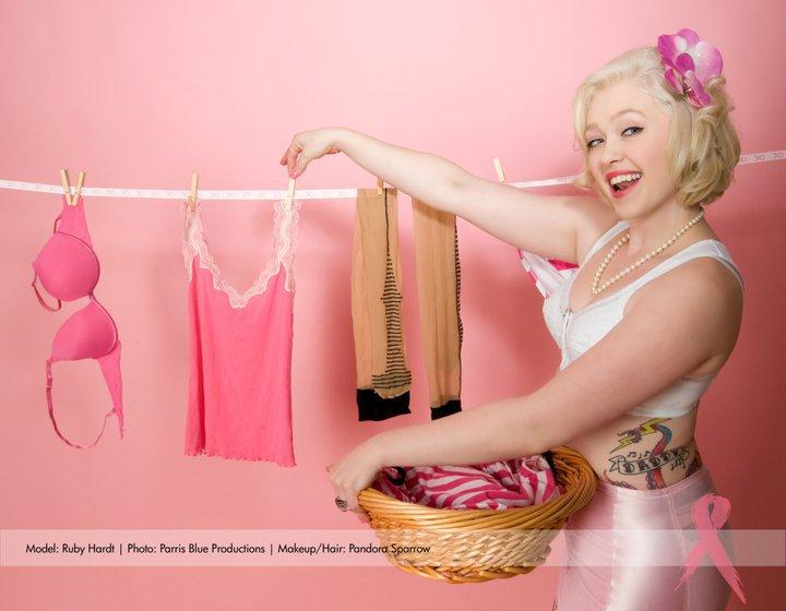 Jan 28, 2011 Photo by Parris Blue Productions Month-June for 2011 Kick Breats cancers ass calendar