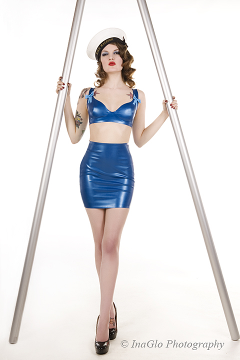 Chester Feb 01, 2011 InaGlo Photography Hey Sailor/ Gaultier shoot - Latex by Cathouse Clothing