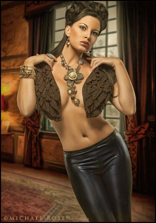 Michael Rosen Studio Feb 04, 2011 Model: Ereka Marcelino, Mua: Landis, Hair: Jennie, Stylist and Jewelry Designer: Jewelry Goddess (Custom Fur Cuff & Necklace)