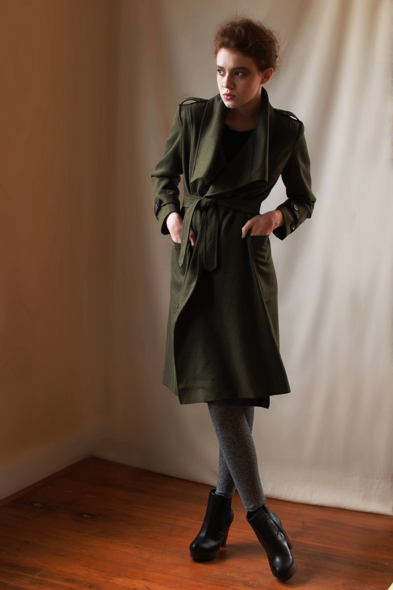 Feb 07, 2011 Wool/Hemp Wrap Coat Fall/Winter 2011