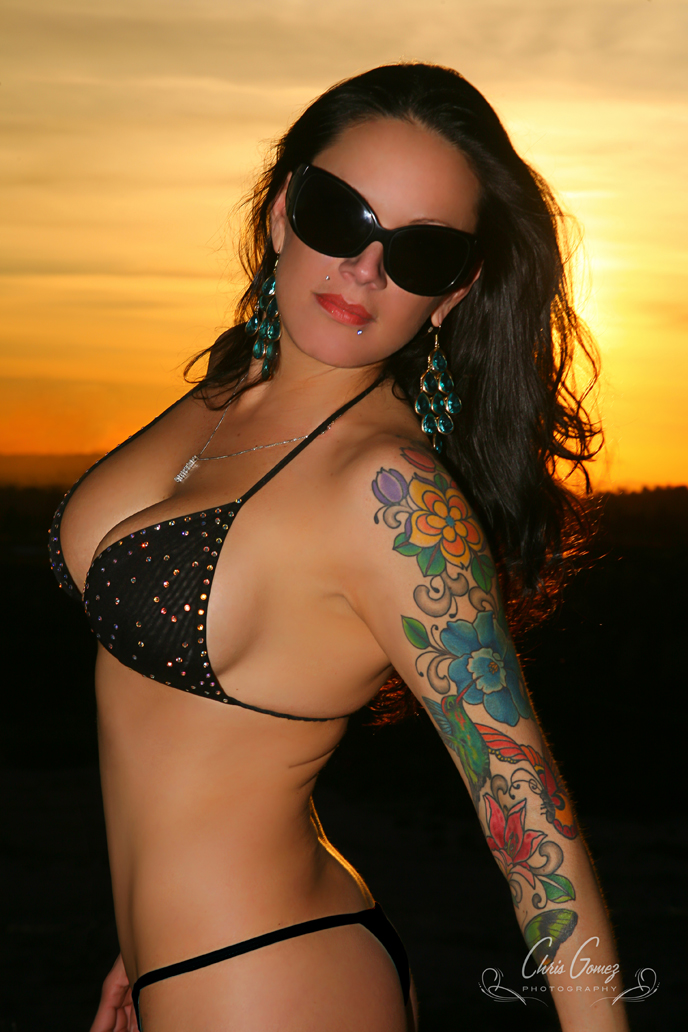 Cucamonga Canyon, CA Feb 08, 2011 Chris Gomez Photography Bikini Sunset