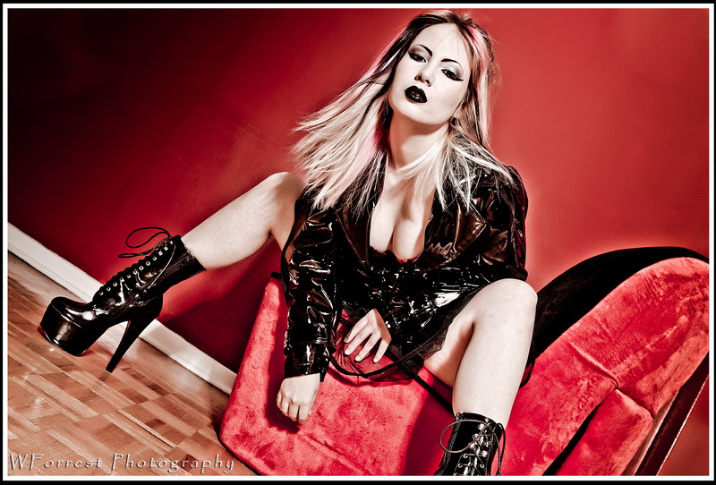 Female model photo shoot of AliG8tr by WForrest Photography, makeup by DeMelo Make-Up