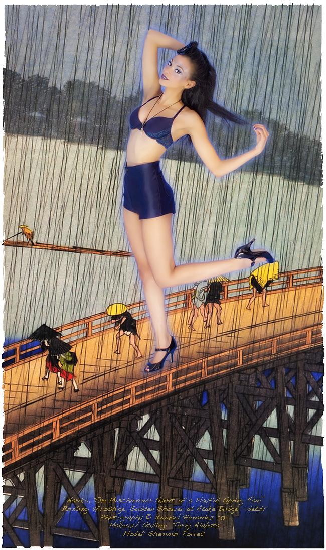 Edo of my dreams / the great bridge Feb 12, 2011 Numael Hernandez 2011 Noriko, playful spirit of the Spring rain/ Cinema lighting series