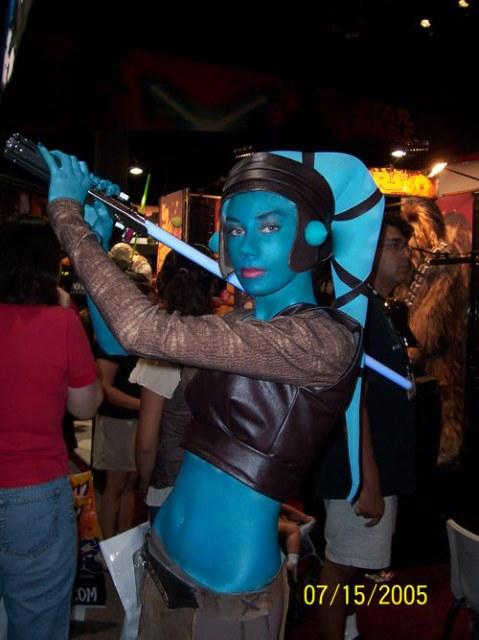 Comic Con 2005 Feb 15, 2011 Aayla Secura Cosplay