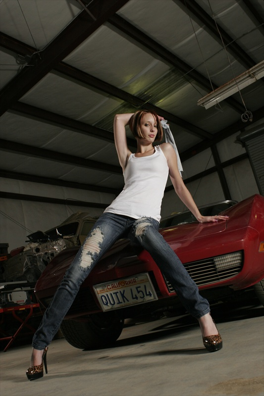 Male and Female model photo shoot of Lucky1 Photography and Jennifer Ann Star in Shop