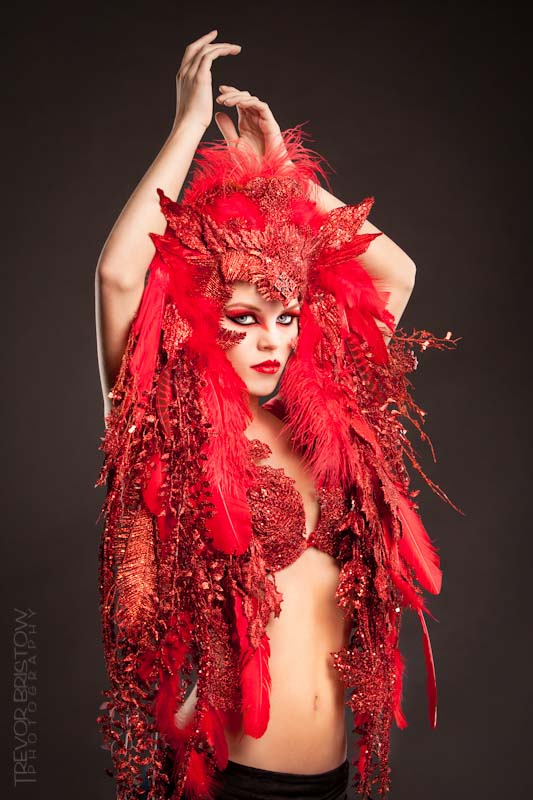 Studio Feb 17, 2011 Trevor Bristow Photography MUA/Clothing/headpiece Designer: Me