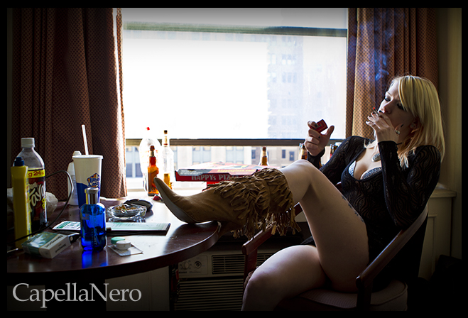 Female model photo shoot of Morbid Candi by Christopher N. in Detroit, Mi