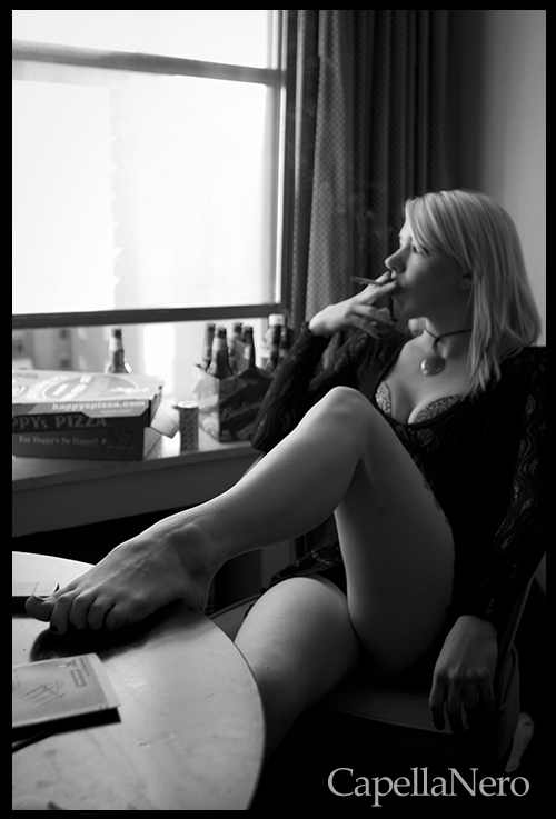 Female model photo shoot of Morbid Candi by Christopher N.