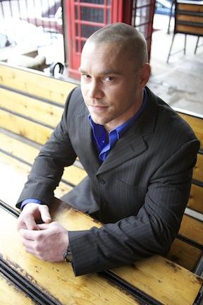 Male model photo shoot of Dustin Ward in Old market omaha nebraksa