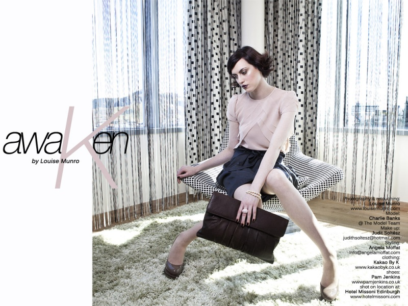 Female model photo shoot of Charlie Banks in Missoni Hotel